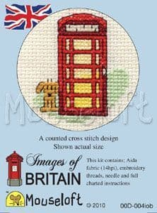 Mouseloft Red Telephone Images of Britain cross stitch kit